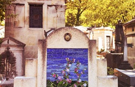 monument funéraire personnalisé gravure mosaïque